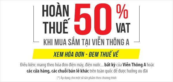 Vien thong A hoan 50% thue VAT cho khach hang hinh anh