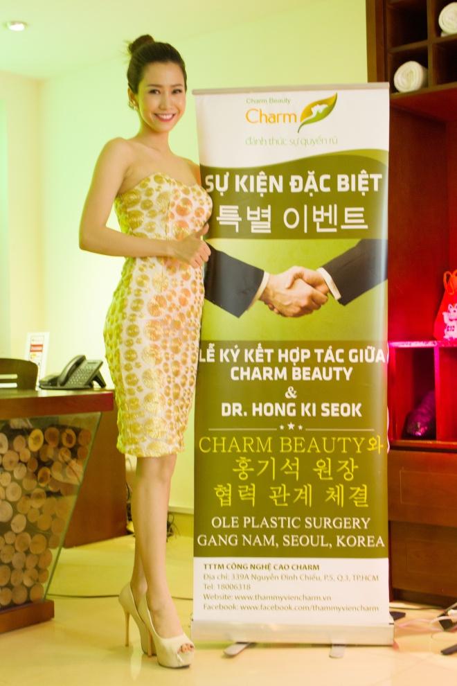 Phan Thu Quyen duyen dang du su kien nang mui S-line Plus hinh anh 1