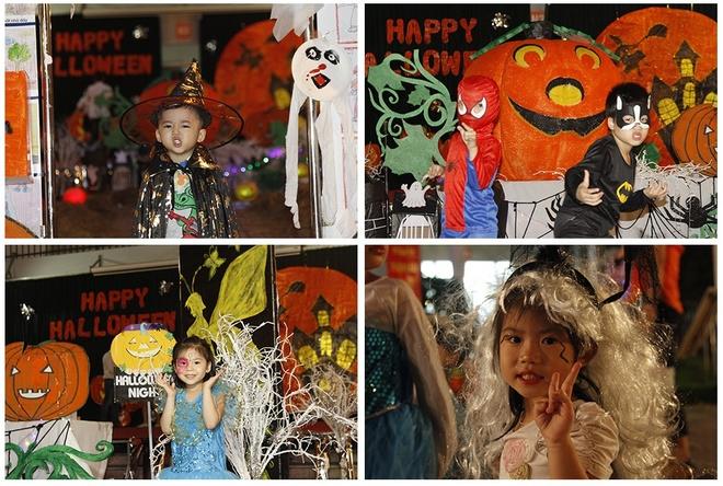 Le hoi hoa trang Halloween vui nhon danh cho cac be hinh anh 5 Các bé được vẽ mặt đáng yêu, làm tóc xinh xắn.