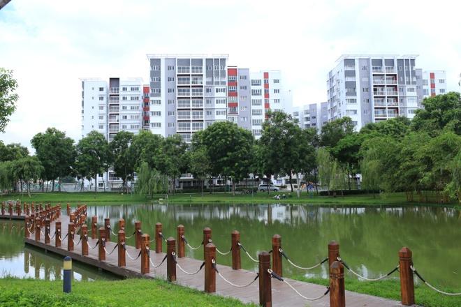 Gamuda Land chi gan 20 ty dong lam duong phuc vu cong dong hinh anh 3 Block A và B Khu Ruby đã hoàn thiện và có hơn 80% cư dân chuyển đến sinh sống