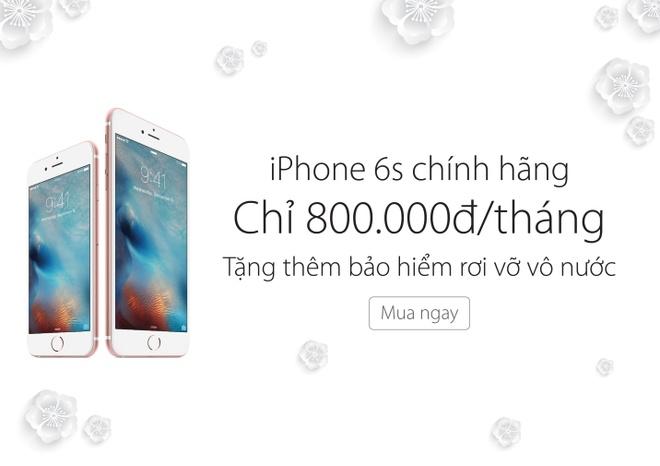 Vien Thong A: Mua iPhone 6S 16 GB tra gop 800.000 dong/thang hinh anh 1
