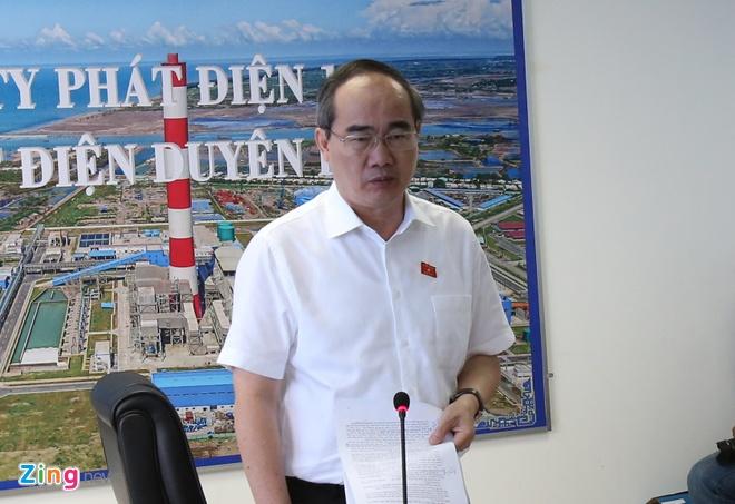 Bi thu Nguyen Thien Nhan thi sat nha may nhiet dien Duyen Hai hinh anh