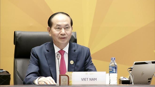 Chu tich nuoc Tran Dai Quang phat bieu khai mac APEC 2017 hinh anh