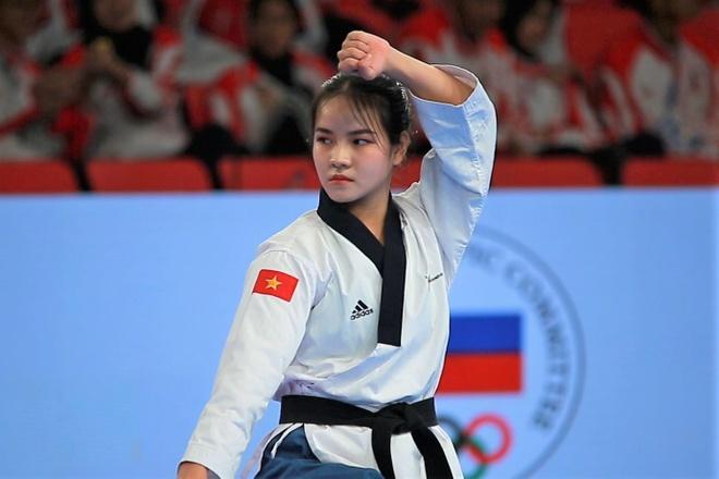 Ve xinh xan cua VDV taekwondo Viet Nam hinh anh