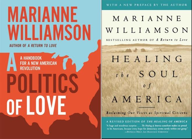 Nu ung vien tong thong My,  Marianne Williamson,  dang Dan chu anh 1