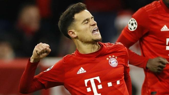 Coutinho lan dau ghi hat-trick cho Bayern Munich hinh anh