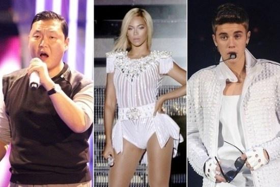 Justin Bieber, Beyonce bi 'nem da' vi dien muon gio hinh anh