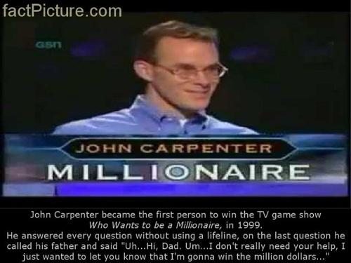Người đầu tiên trên thế giới giành được giải 1 triệu USD trong gameshow Ai  là triệu phú của Mỹ.
