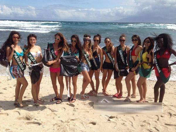 Cac nguoi dep Miss Earth 2013 dien bikini di nhat rac hinh anh 1