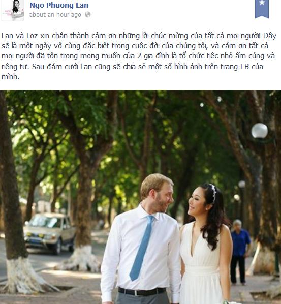 Ngo Phuong Lan tiet lo anh cuoi xinh dep ben chong Tay hinh anh 2