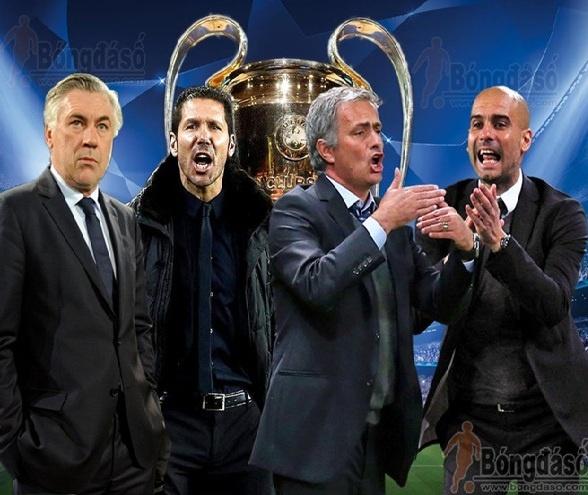 Man dau tri can nao giua 4 HLV tai ban ket Champions League hinh anh