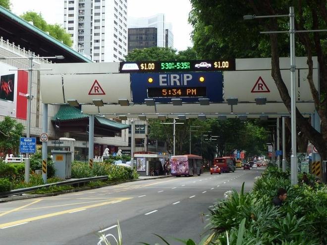 Singapore thu phi oto vao noi do ra sao? hinh anh