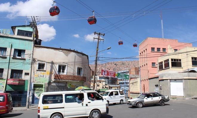 He thong cap treo cong cong o La Paz, Bolivia hinh anh