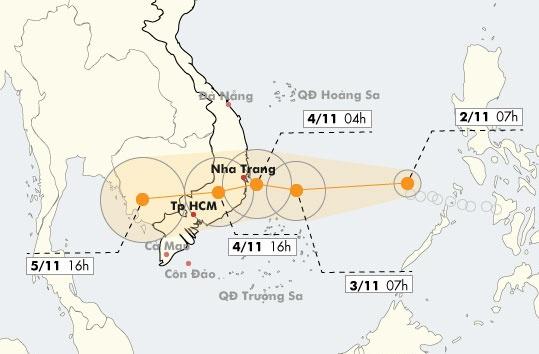 Bao so 12 nham vao Khanh Hoa - Ninh Thuan, suc gio 130 km/h hinh anh