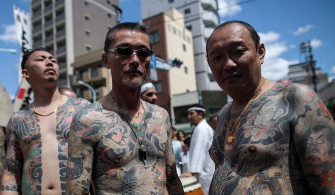 Lan song hoan luong cua cac thanh vien bang dang yakuza o Nhat Ban hinh anh