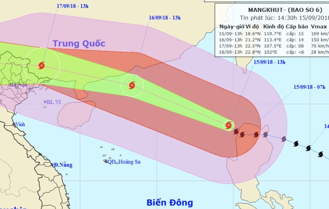 Bao Mangkhut vao Bien Dong voi suc gio hon 180 km/h hinh anh