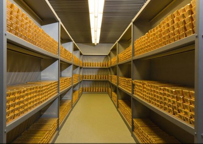 Hiện, Đức sở hữu khoảng 3.363,6 tấn vàng thỏi, tương đương 75,2% dự trữ ngoại hối nước này. Ảnh: Mining.
