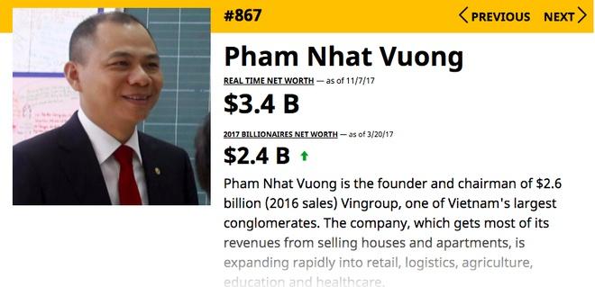 Tai san ty phu Pham Nhat Vuong tang 1 ty USD sau 8 thang hinh anh 1
