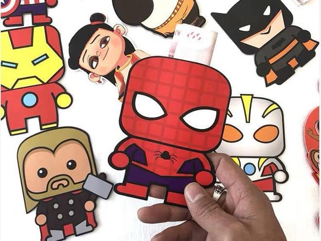 Bao li xi sieu nhan, Spider Man 3D hut khach dip Tet 2020 hinh anh 1 lixi3_1.jpg  Bao lì xì siêu nhân, Spider Man 3D hút khách dịp Tết 2020 lixi3 1