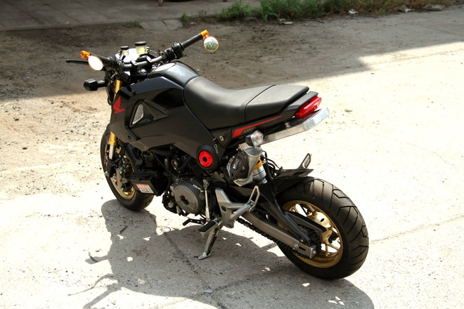 Honda MSX 125 dung dong co Ducati 1199 Panigale hinh anh 3