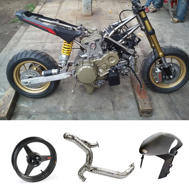 Honda MSX 125 dung dong co Ducati 1199 Panigale hinh anh 4