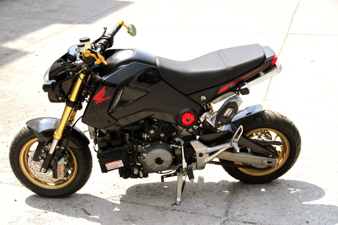Honda MSX 125 dung dong co Ducati 1199 Panigale hinh anh 7