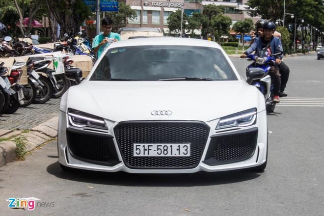 Audi R8 do po Akrapovic tai Sai Gon hinh anh