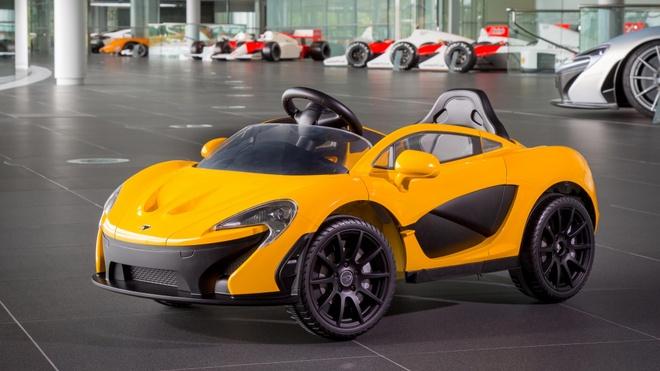 McLaren P1 mui tran chay dien cho tre me sieu xe hinh anh