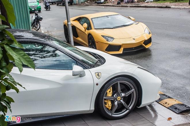 Sieu xe cua Cuong Do La tu hop bo doi Lamborghini Aventador hinh anh