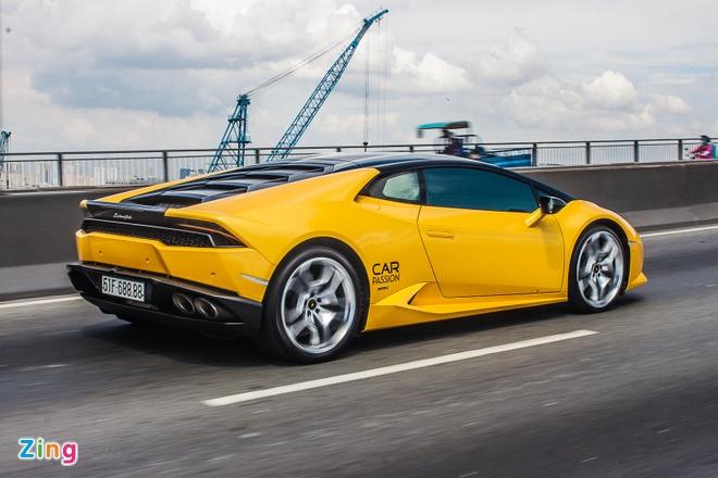 Loat sieu xe Lamborghini cua dai gia Viet dao pho hinh anh 7