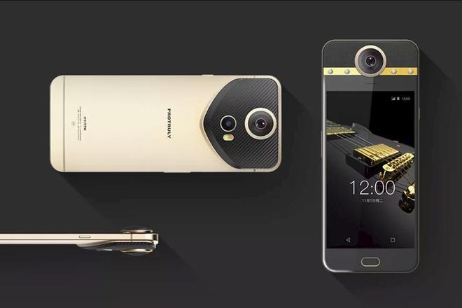 Smartphone gan kim cuong, camera 360 do hinh anh