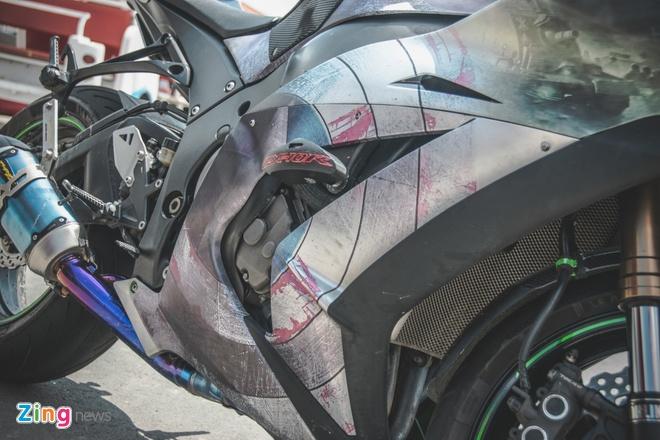 Sieu moto Kawasaki phong cach Captain America o VN hinh anh 11