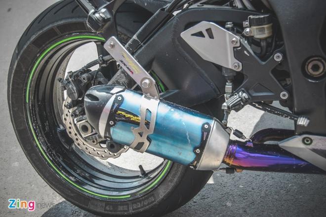 Sieu moto Kawasaki phong cach Captain America o VN hinh anh 5