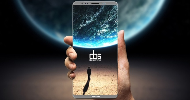 Galaxy Note 8 co the lo hen voi may quet van tay an duoi man hinh hinh anh