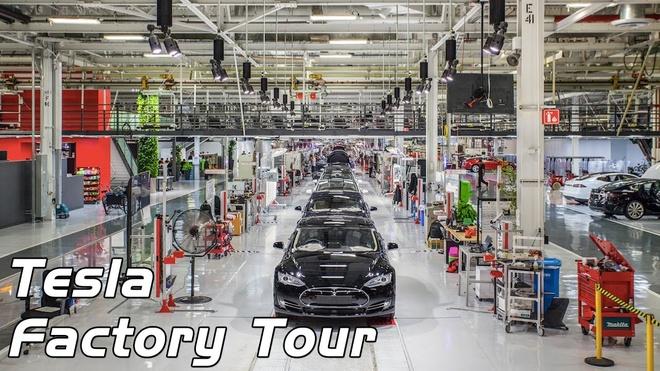 Day chuyen san xuat xe dien Tesla Model 3 hinh anh