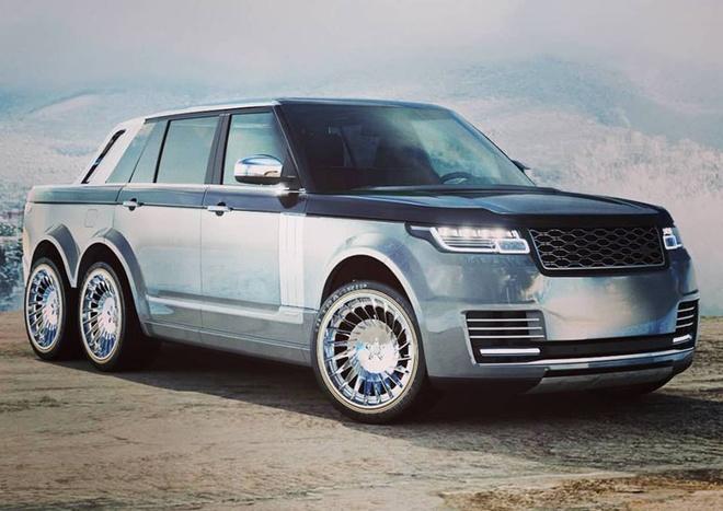 Range Rover ban tai 6 banh ky di sap ra mat hinh anh