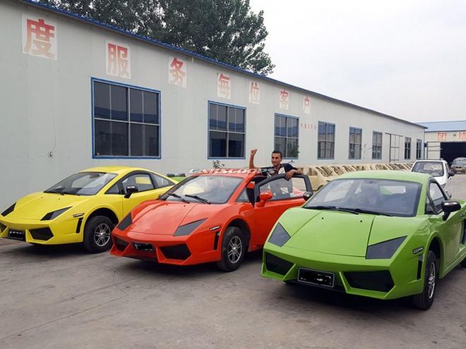 Xe nhai Bugatti Chiron, Lamborghini tran lan tai Trung Quoc hinh anh 5