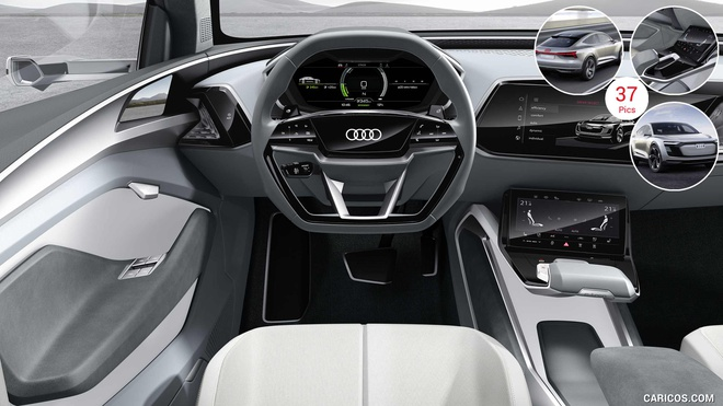 Xe dien cua Audi dung camera thay cho guong chieu hau hinh anh 5