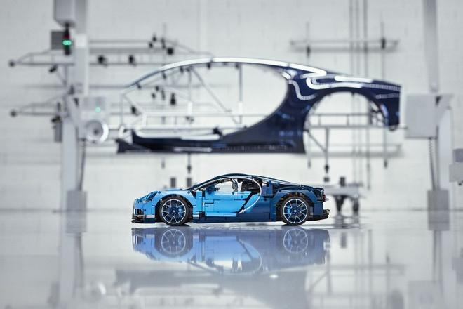 Sieu xe do choi Bugatti Chiron cua LEGO hinh anh