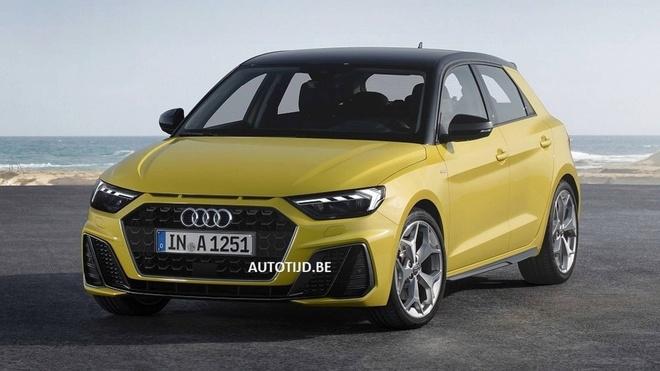 Audi A1 2019 hatchback bat ngo lo dien hinh anh