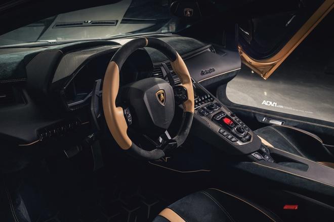 Lamborghini Aventador SV Roadster khoac mau gold dac biet hinh anh 6