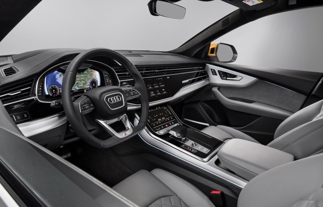 Audi Q8 tuyet dep trong mau xanh ngoc bich anh 6