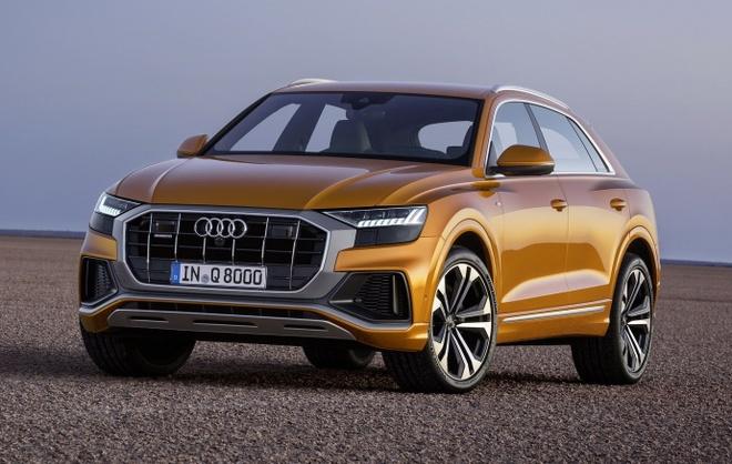 Audi Q8 tuyet dep trong mau xanh ngoc bich anh 3
