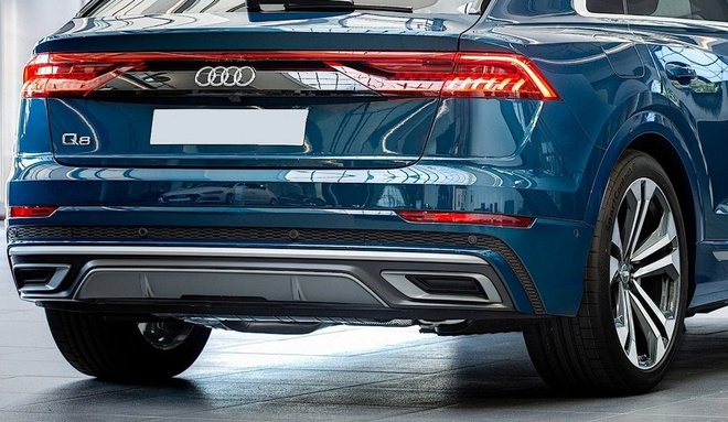 Audi Q8 tuyet dep trong mau xanh ngoc bich anh 5