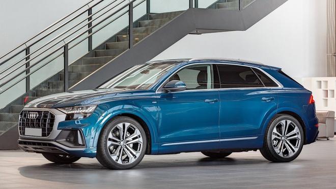 Audi Q8 tuyet dep trong mau xanh ngoc bich anh 1