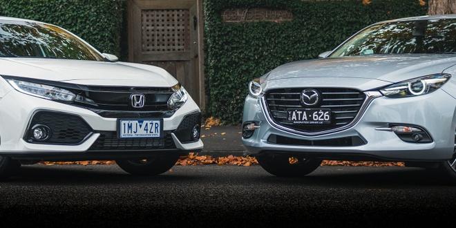 So sanh Honda Civic va Mazda 3 phien ban 2018 hinh anh