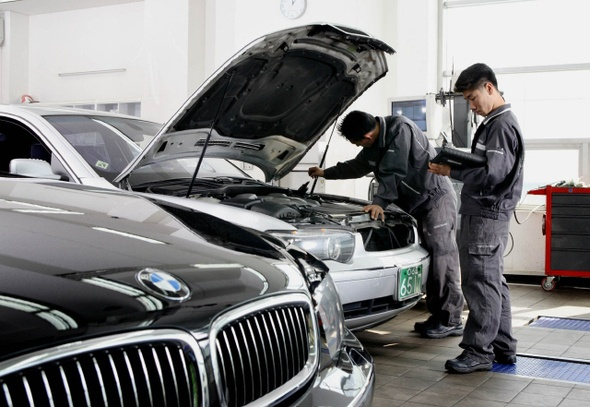 Han Quoc cam xe BMW anh 1