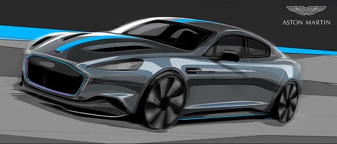 Xe dien cuc manh cua Aston Martin sap ra mat hinh anh