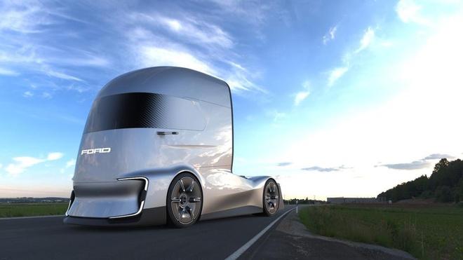 Lo dien concept xe dau keo chay dien cua Ford hinh anh 2