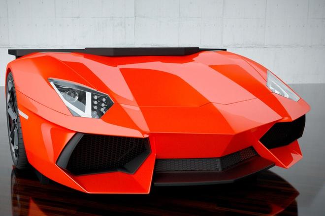 Ban lam viec kieu sieu xe Lamborghini doc va sieu dat hinh anh
